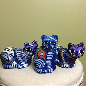 Other - Hand Painted Mexican Terra Cotta Cats